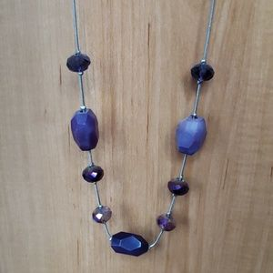 Charming Charlie Purple Necklace